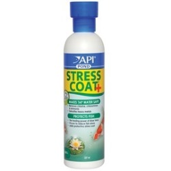 Api pond stress coat pond dechlorinator water conditioner for How to make tap water safe for fish without conditioner